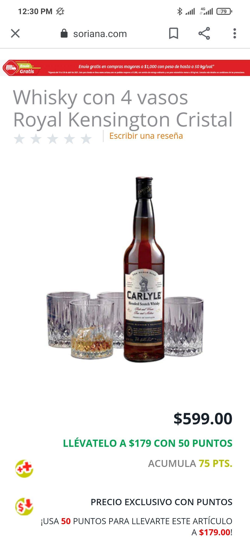 Soriana Whisky Carlyle