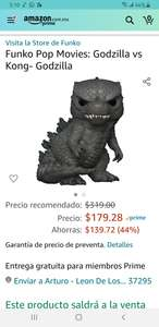 Amazon Preventa Funko pop Godzilla
