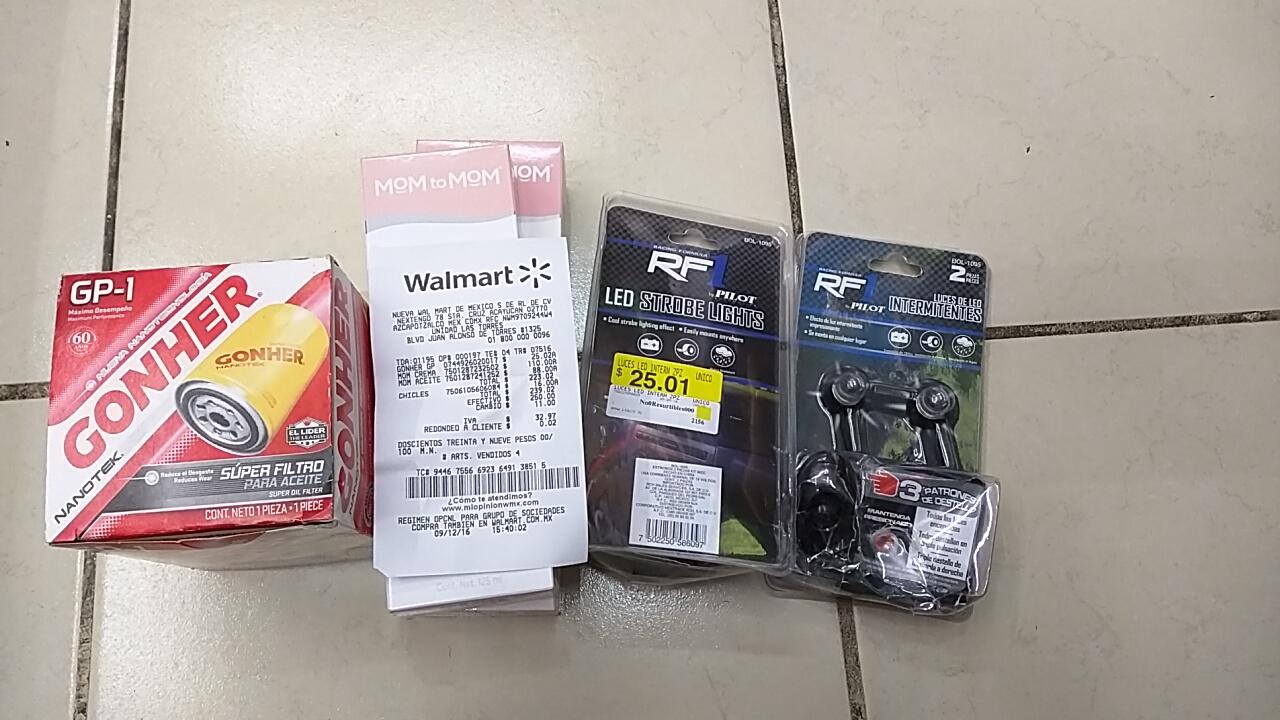 Walmart Galerías León: luces LED estrobo de 25.01 a gratis, si gratis...