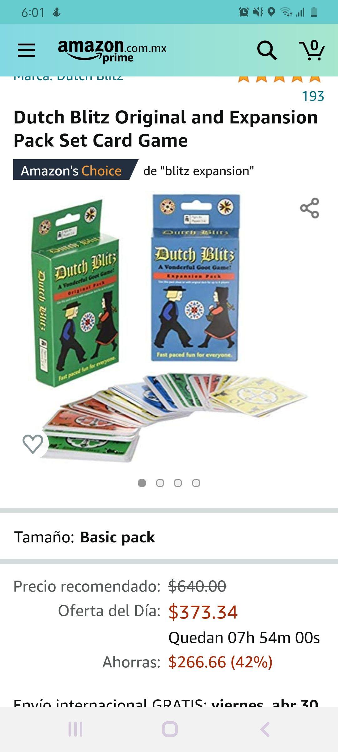 Amazon: Dutch Blitz Original and Expansion Pack Set Card Game