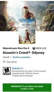 Microsoft Store: Assassin's Creed Odyssey Xbox One y Xbox series S/X
