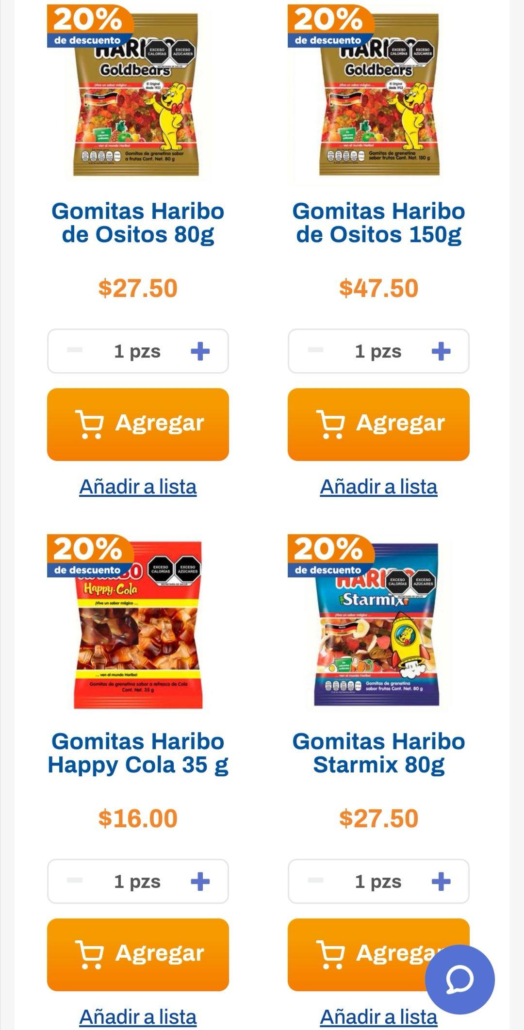 Chedraui: 20% de descuento en chocolates Ritter y gomitas Haribo