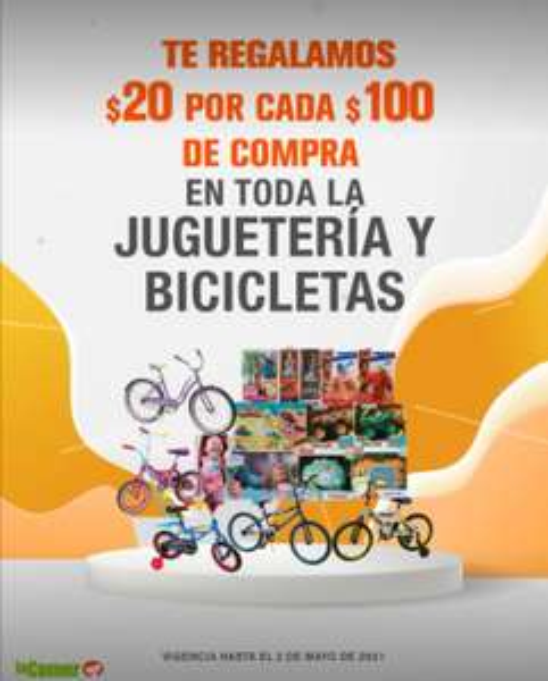 La Comer: $20 de descuento por cada $100 de compra en toda la juguetería y bicicletas