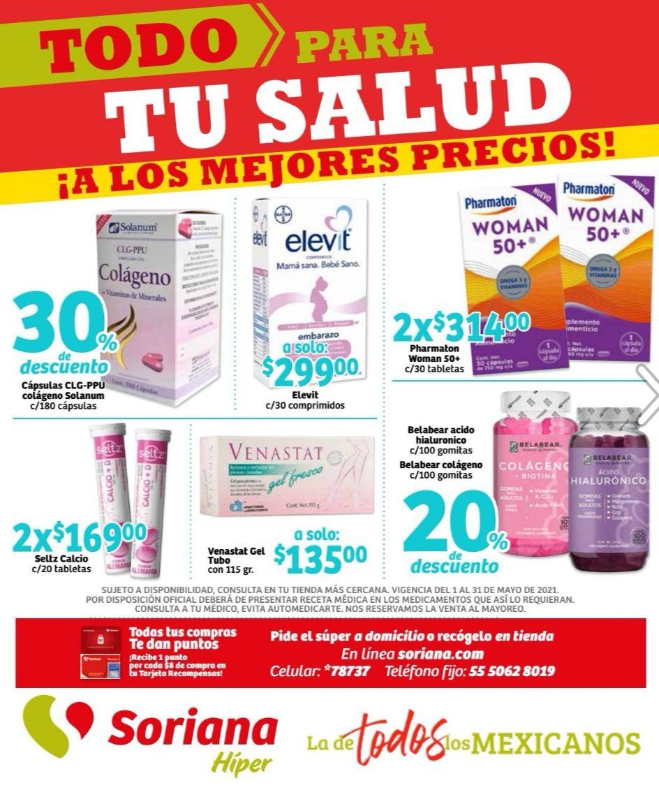 Soriana Híper: Folleto de Ofertas Farmacia Mayo