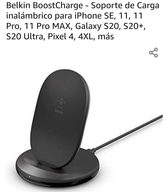 Amazon: Cargador inalambrico Belkin 15W (adaptador incluido)