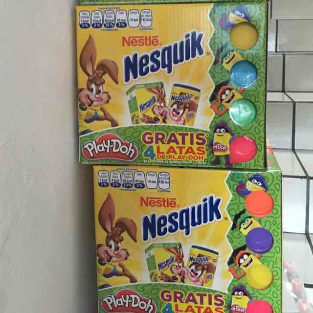 Sam's Club: Cereal Nesquik + 4 latas de play-doh + bote de chocolate en polvo de 1.8kg