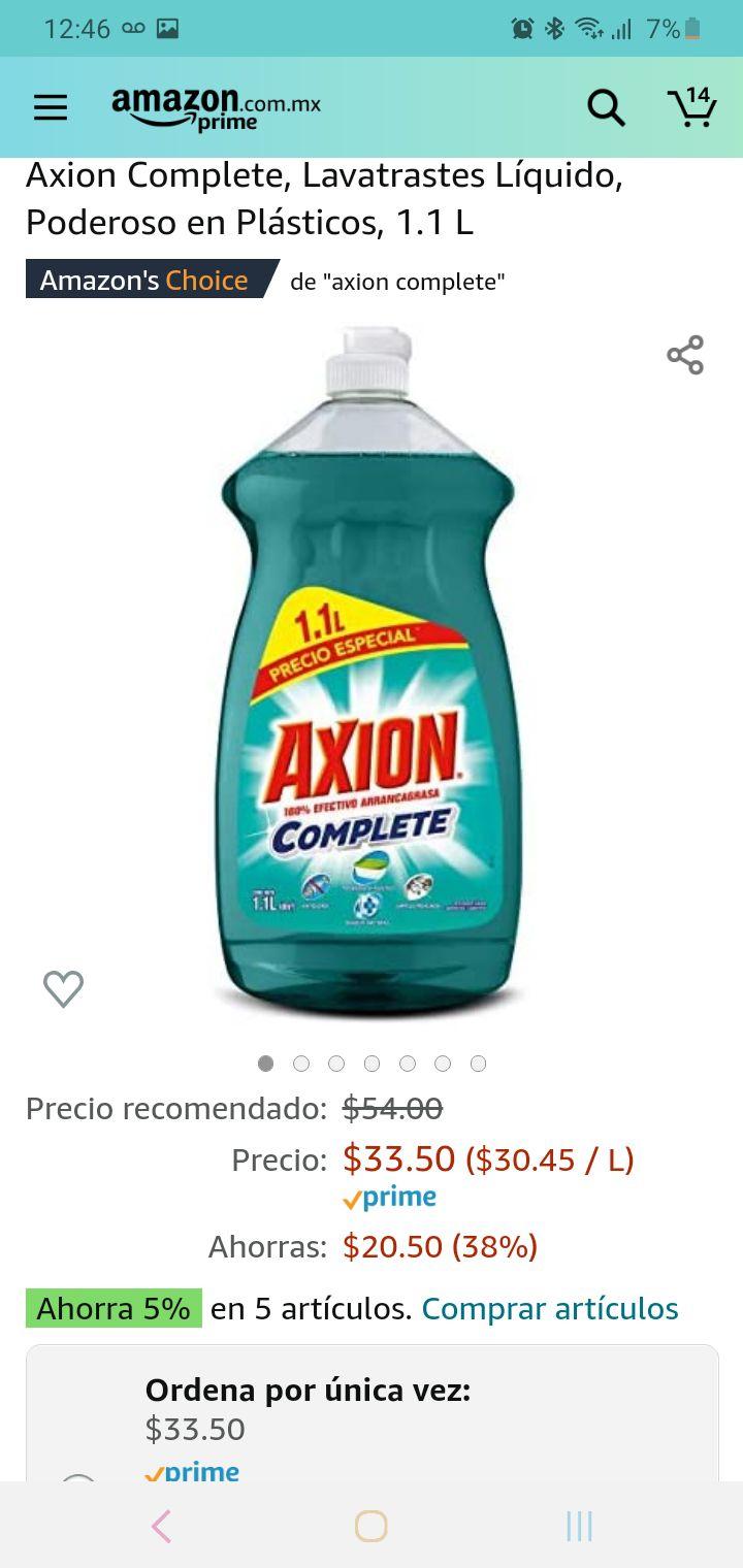 Amazon: Axion complete de 1.1litros a $30 con planea y ahorra