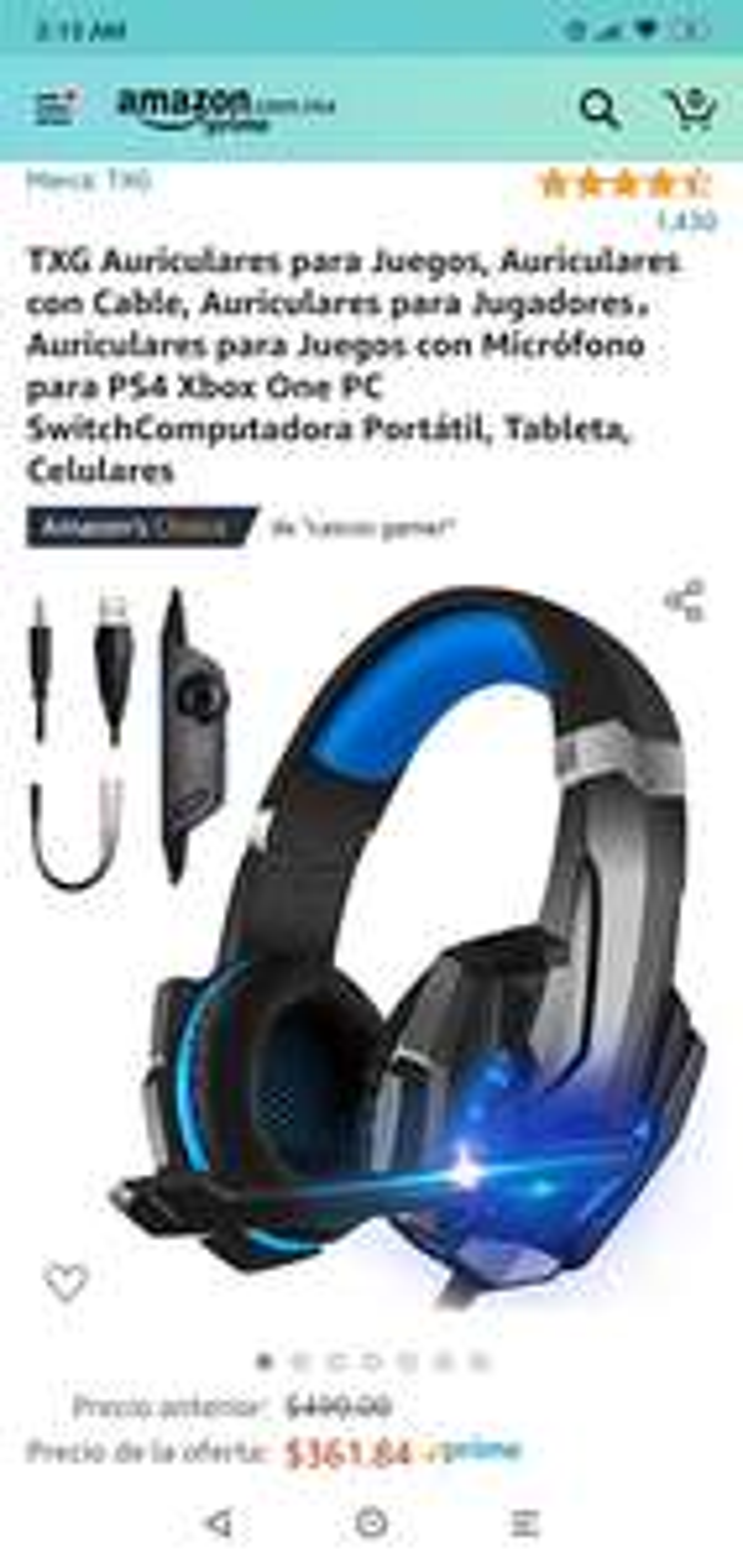 Amazon: Audífonos gaming (compatibles con todas las consolas y pc) con rgb, para más placer.