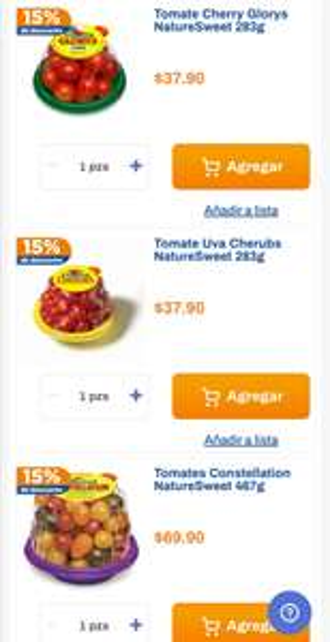 Chedraui: 15% de descuento en tomatitos empacados Nature Sweet
