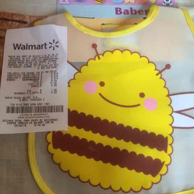 Walmart: Babero a $3.01