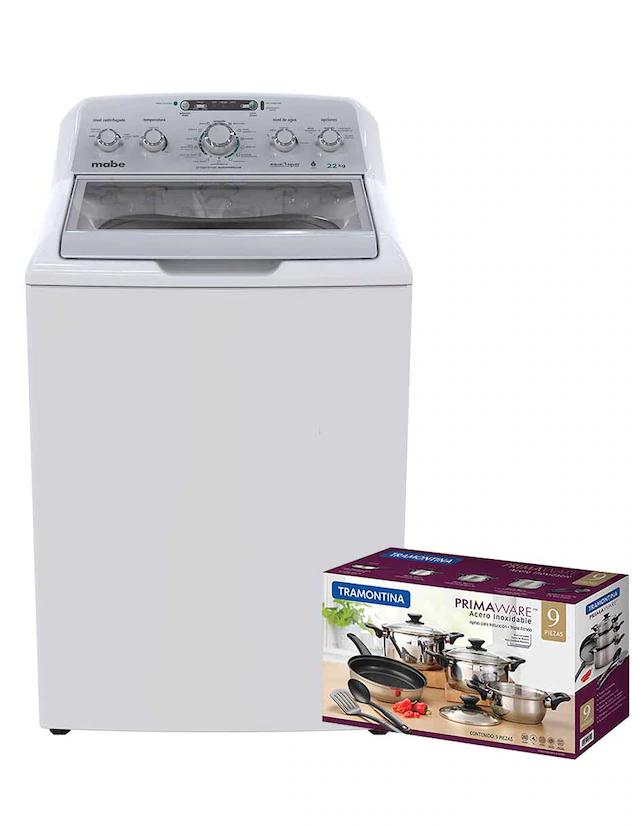 Liverpool: Combo lavadora Mabe + batería de cocina