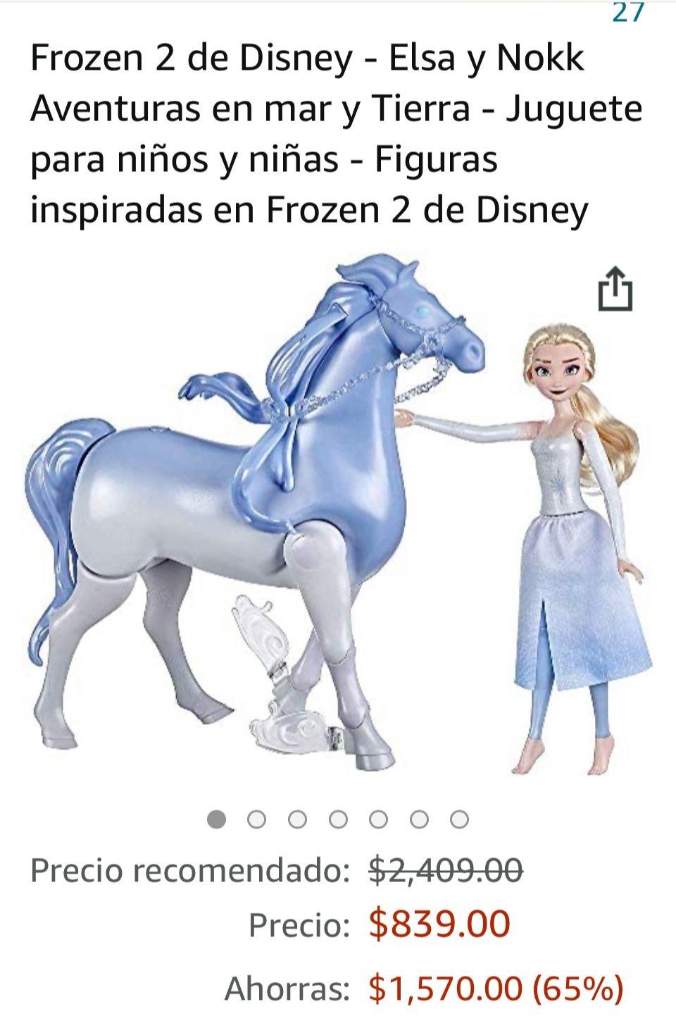 Amazon: Frozen 2 Elsa y Nokk (camina y nada)