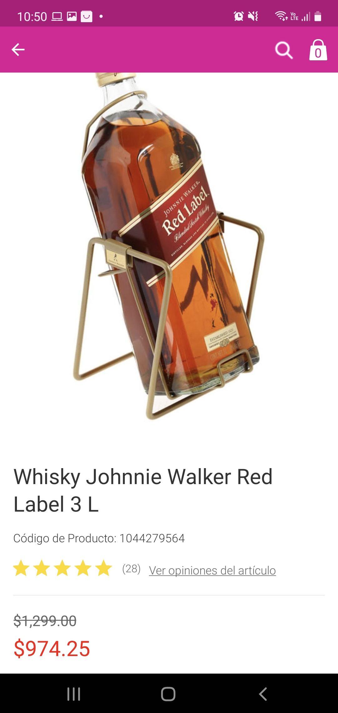 Liverpool: Whisky Johnnie Walker Red Label 3L