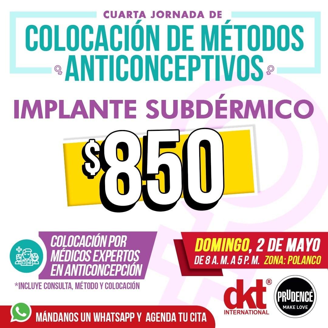 DKT Vasectomia, Implates subdermicos y mas a precios accesibles!!!