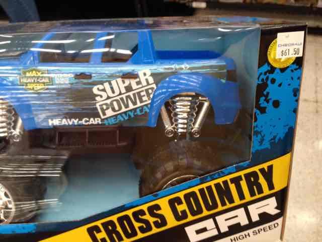 Chedraui: Juguete Cross country Car a $61.50
