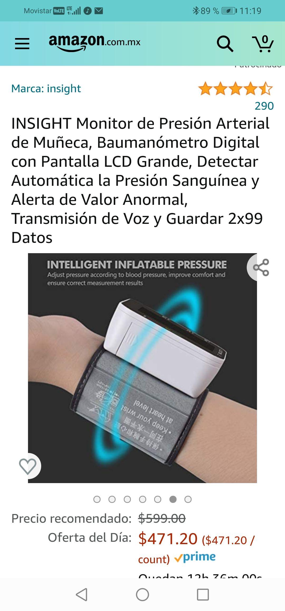 Amazon :Monitor de Presión Arterial de Muñeca, Baumanómetro Digital con Pantalla LCD Grande