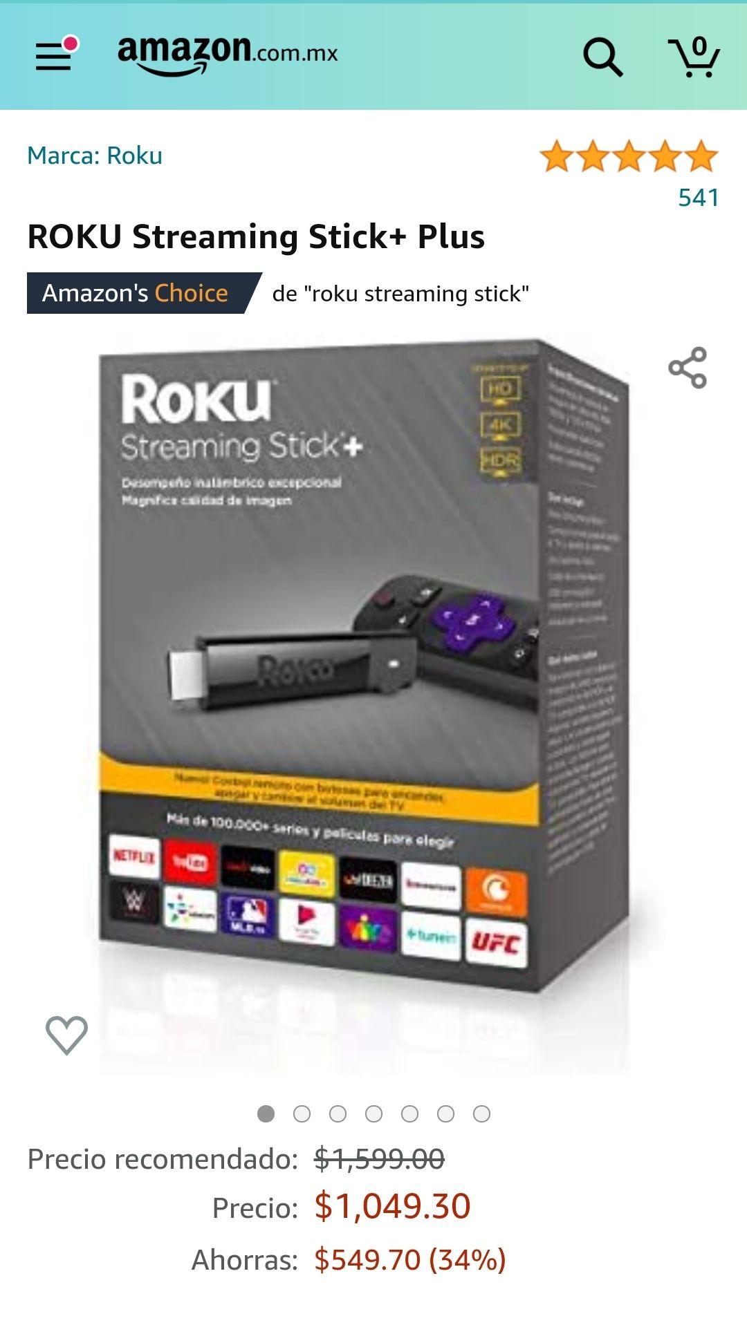 Amazon: Roku streaming stick+ plus