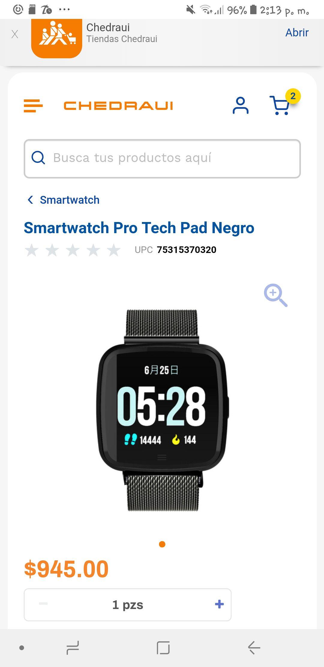 Chedraui: Smartwatch tech pad