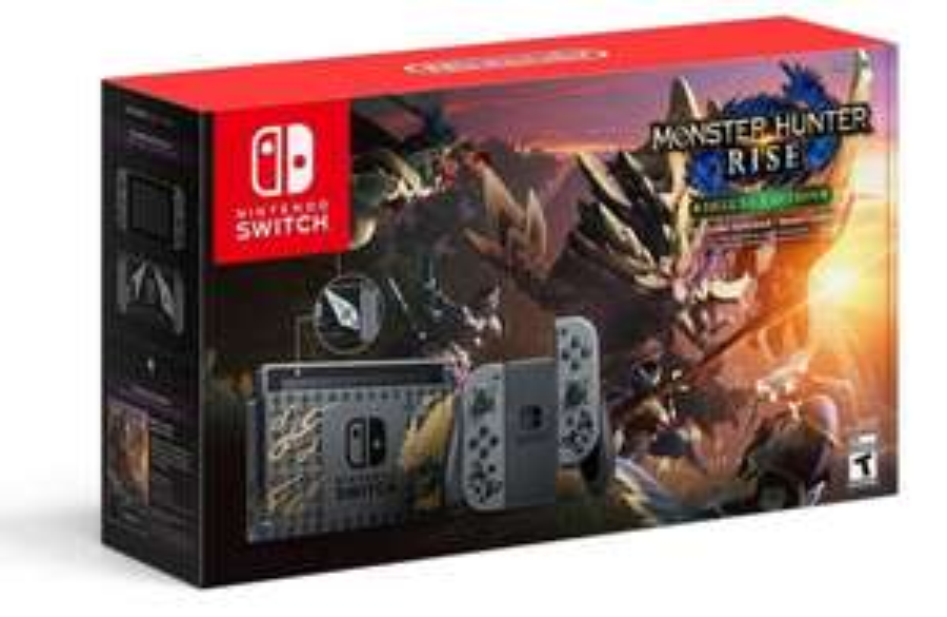 Bodega Aurrera: Consola Nintendo Switch v1.1 con Código Digital para Monster Hunter Rise más Deluxe Kit DLC (Banorte)