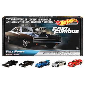 AMAZON : Hot Wheels Collector, Paquete de 5 Autos F&F