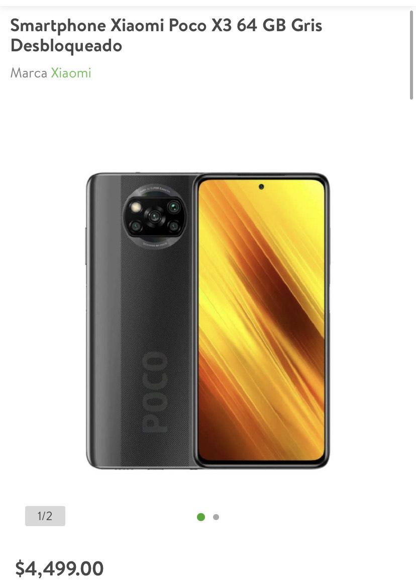 Bodega Aurrerá: Xiaomi Poco X3 64 GB 6 RAM Gris/Azul