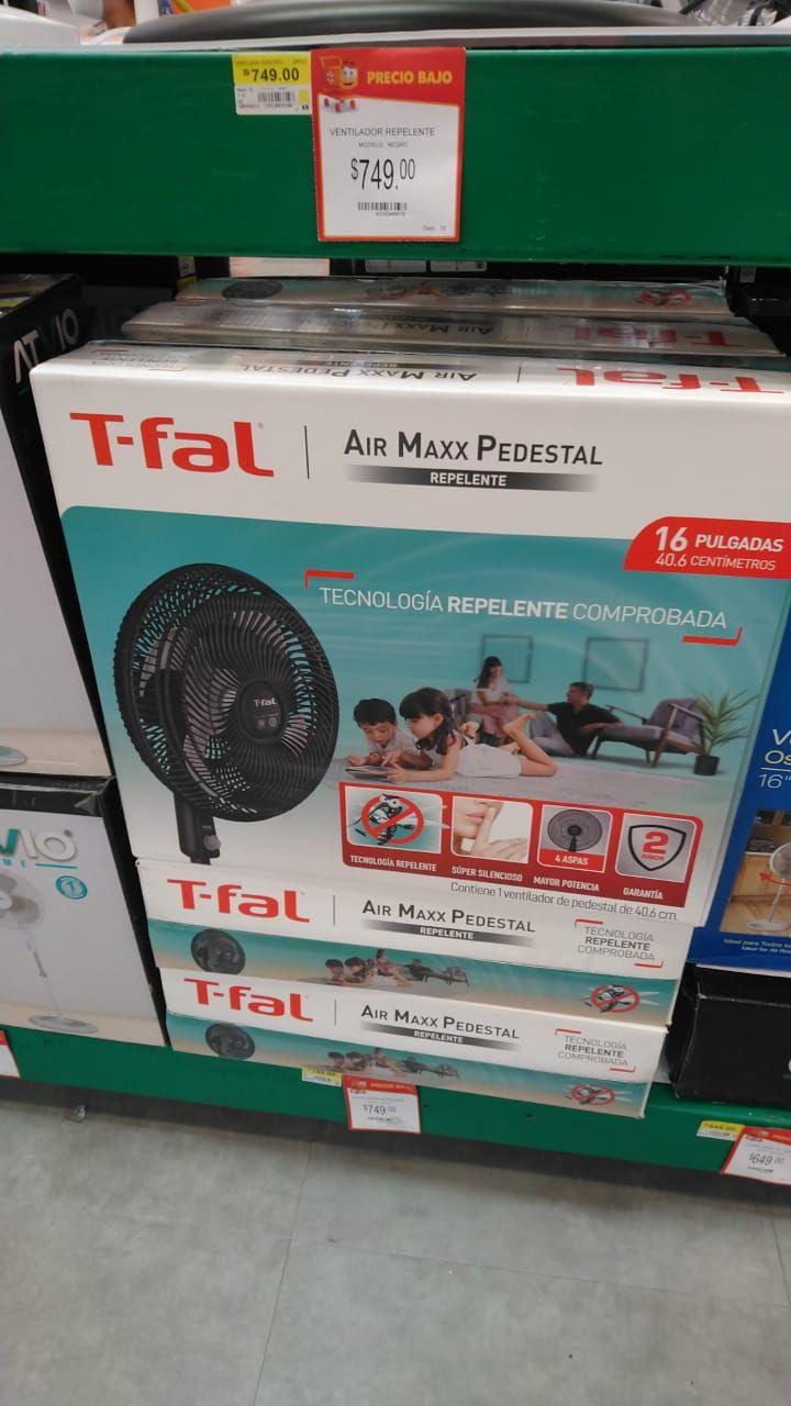 Walmart Satelite: Ventilador T Fal Air Maxx Pedestal (Repelente) 16 Pulgadas