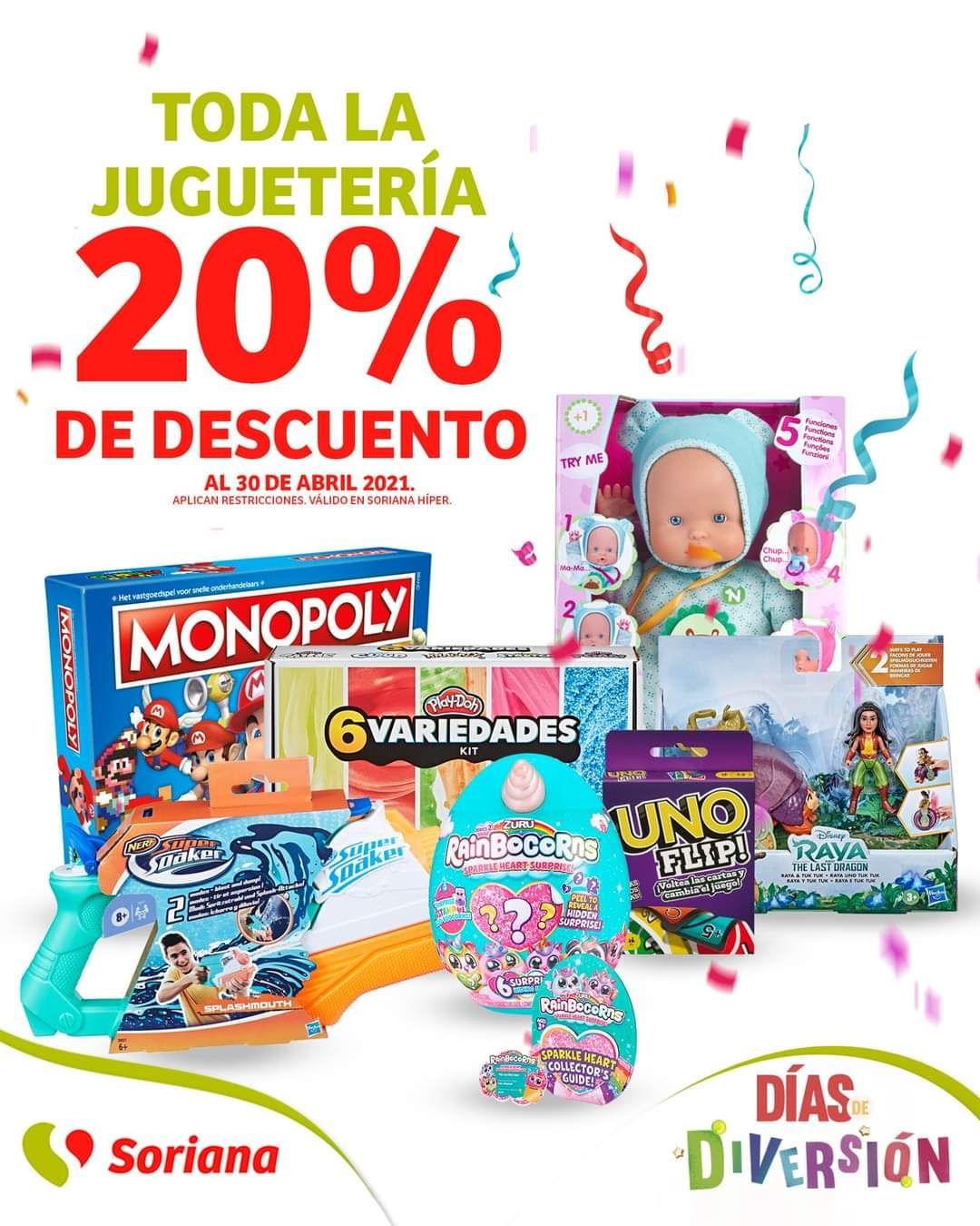 Soriana Híper: 20% de descuento en toda la juguetería
