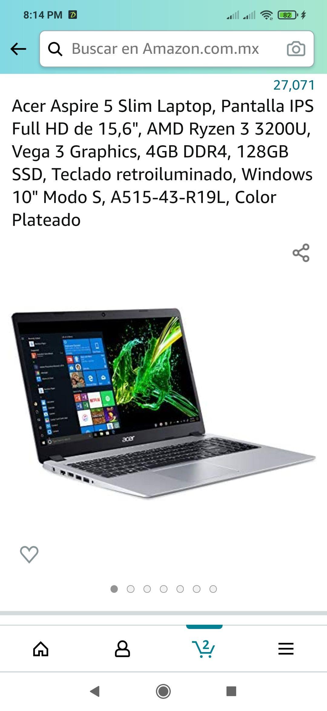 Amazon: Laptop decente a buen precio
