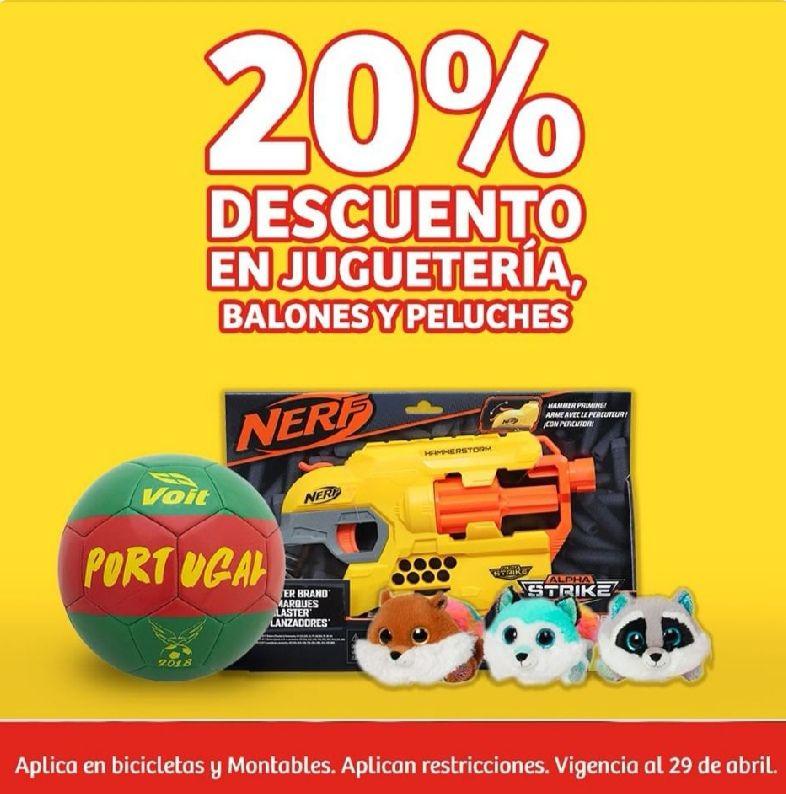 Soriana Mercado y Express: 20% de descuento en juguetería, balones y peluches