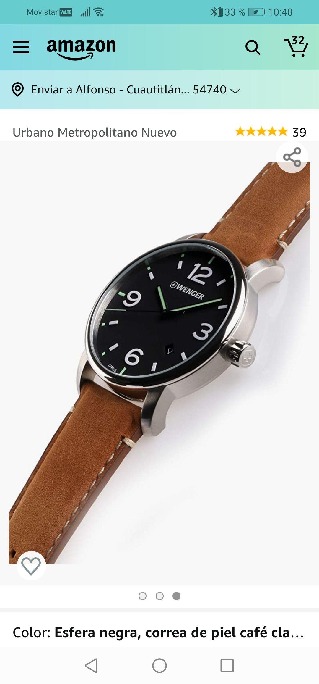 Amazon USA: Reloj Wenger Metropolitan.