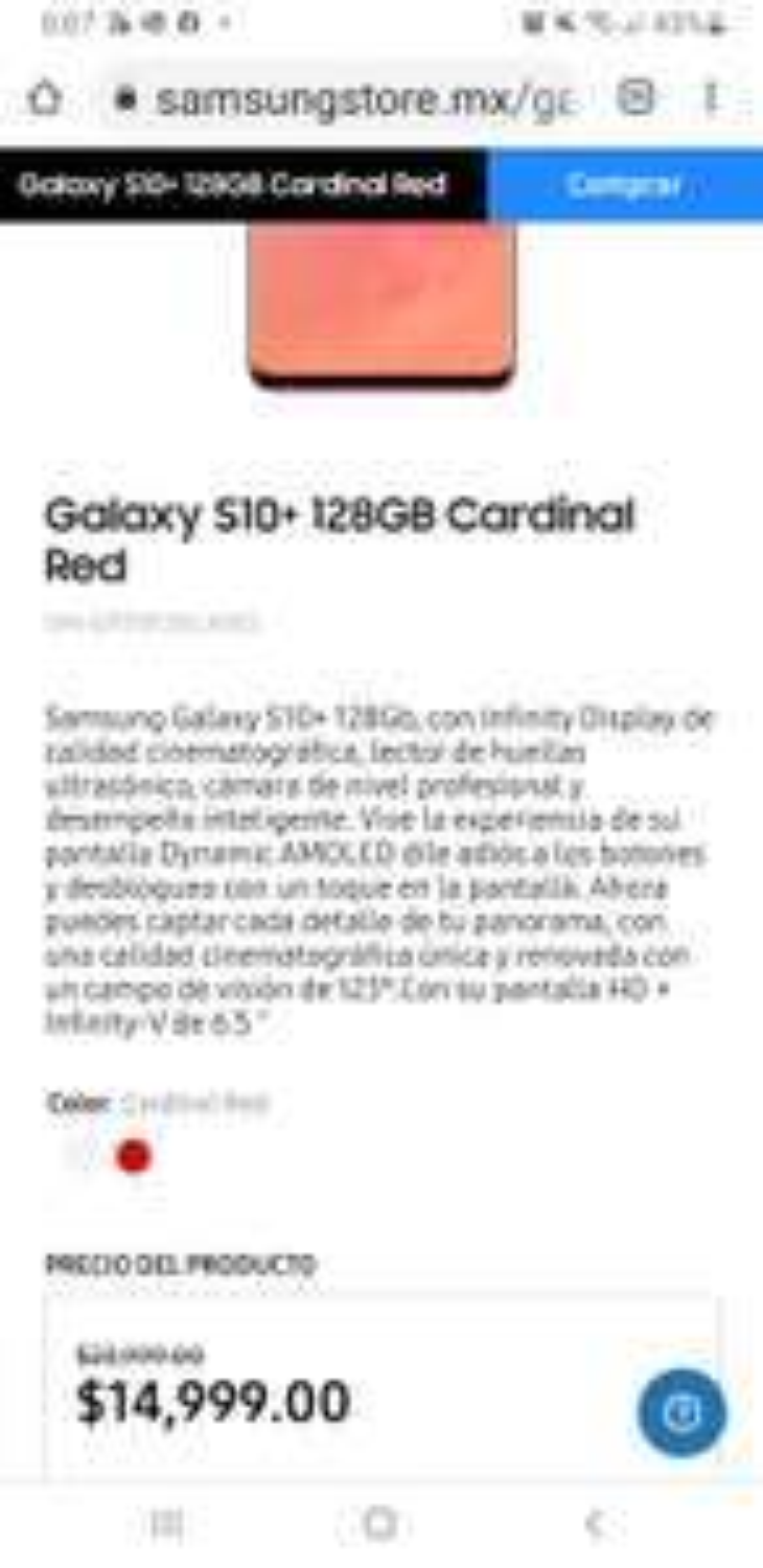 Samsung Store: Galaxy s10+ plus 128 gb