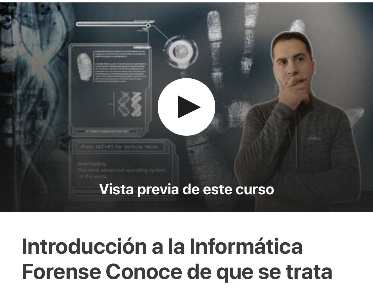 Udemy Español: Introducción a la Informática Forense Conoce de que se trata