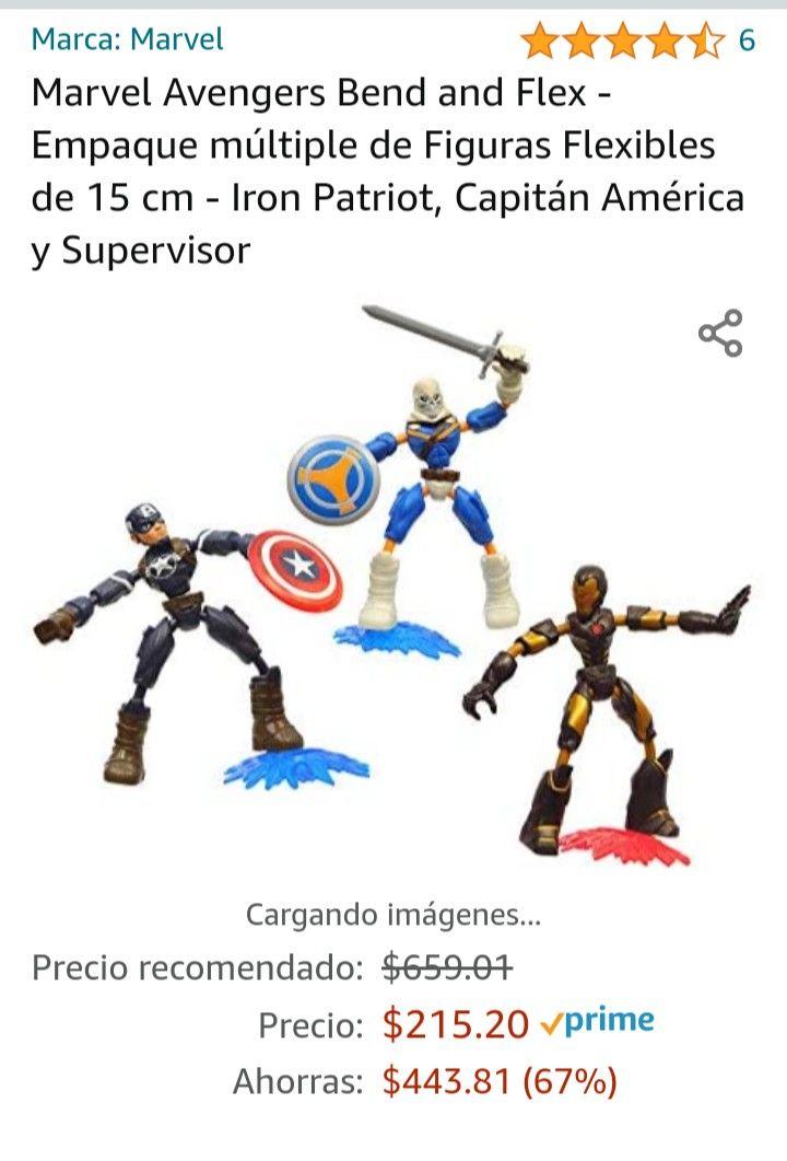 Amazon: Bend and flex Marvel 3 figuras