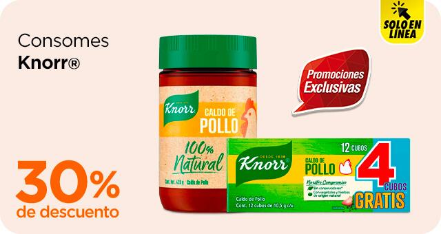 Chedraui: 30% de descuento en consomés Knorr