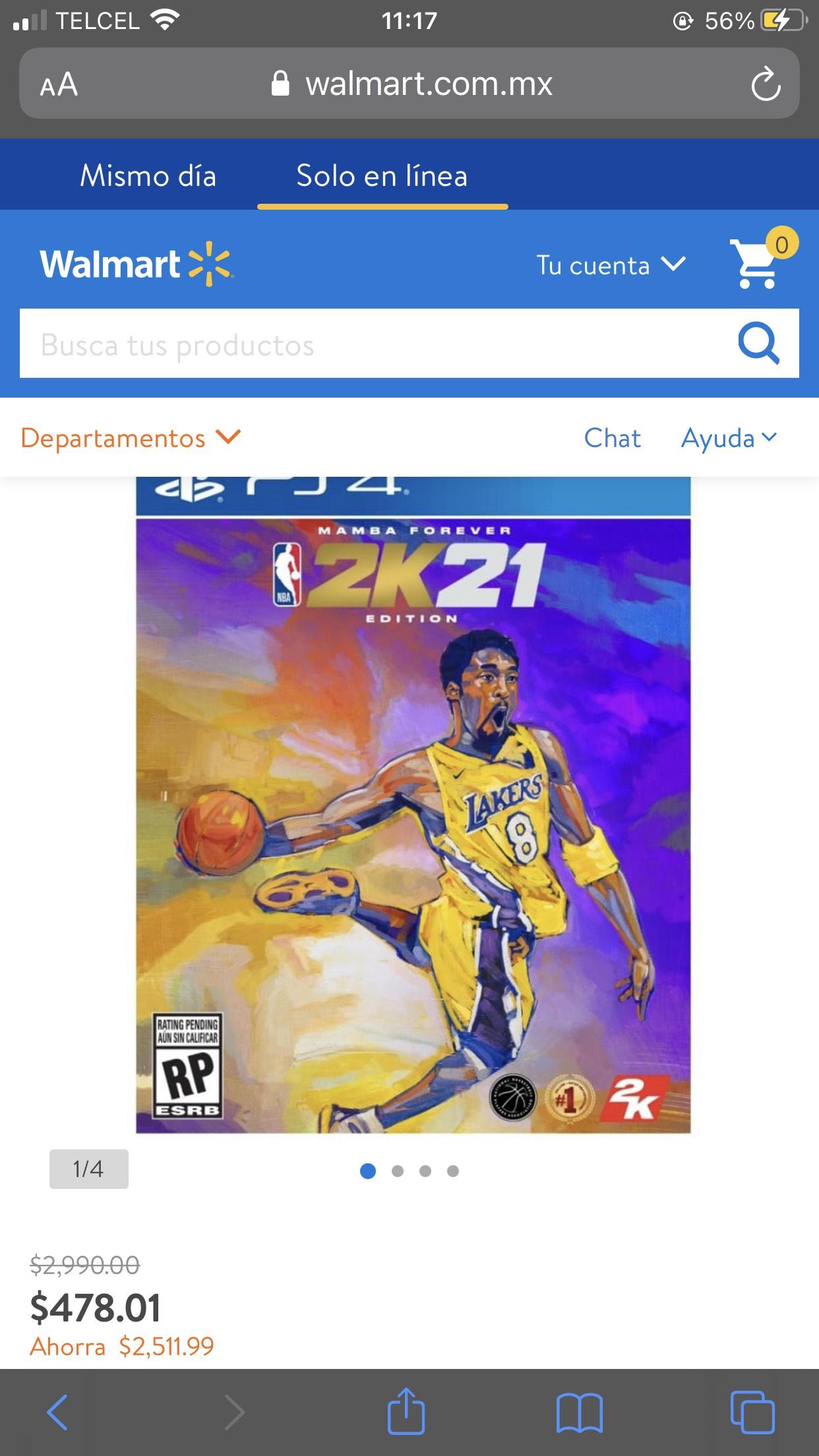 Walmart en Línea NBA 2k21 Mamba Edition PS4
