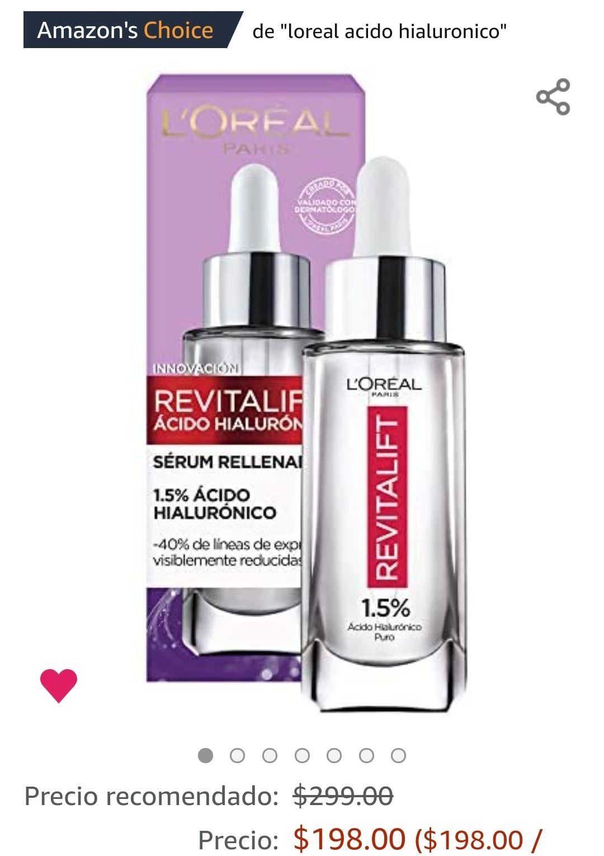 Amazon L'Oreal Paris Serum Facial Anti Arrugas Acido Hialuronico Revitalift L'Oreal Paris