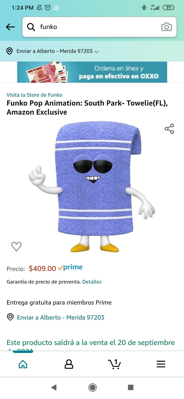 Amazon: Funko Flocked Toallin bien Pacheco, Amazon Exclusivo!