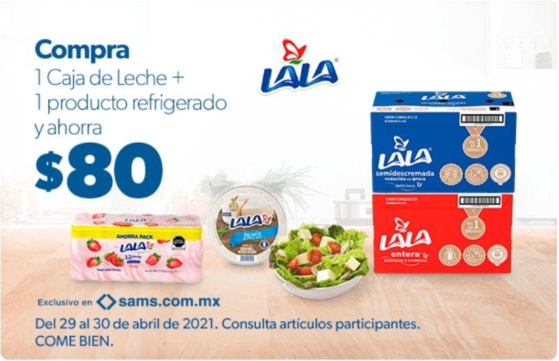 Sam's Club: Ahorra $80 en la compra de una caja de leche Lala + refrigerado