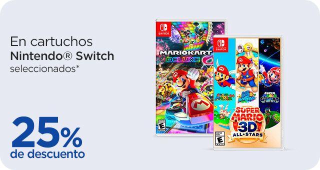 Chedraui: 25% de descuento en cartuchos Nintendo Switch