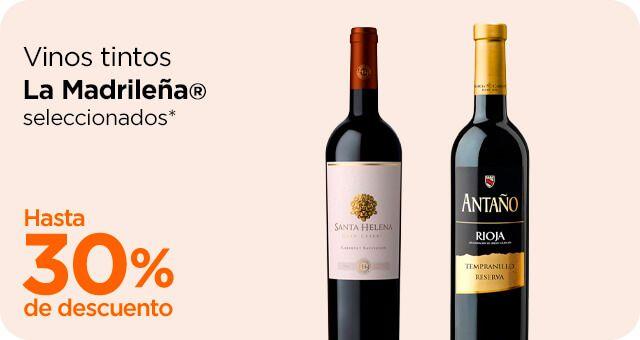 Chedraui: 30% y 20% de descuento en vinos tintos La Madrileña seleccionados