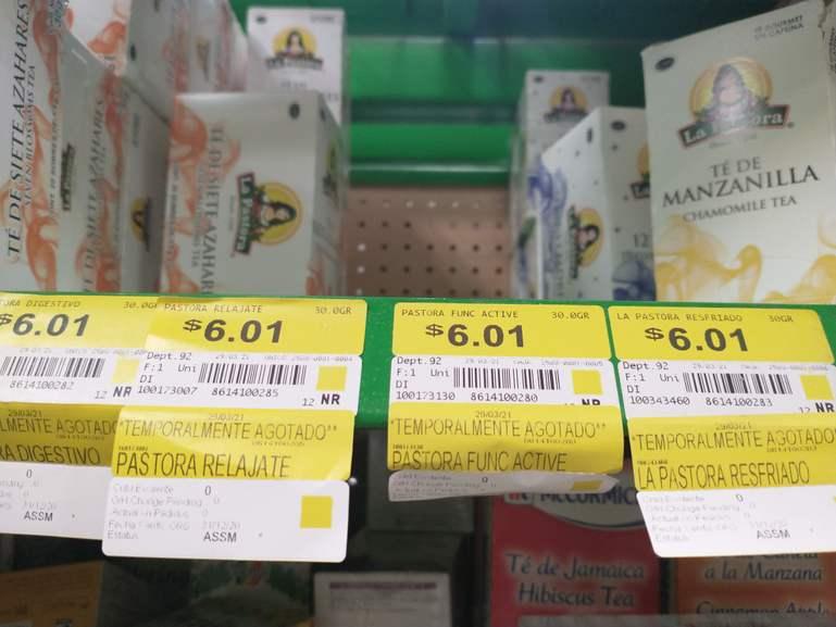 Bodega Aurrerá: Cajas de Té de Manzanilla a sólo seis pesos espero les agrade esta promo