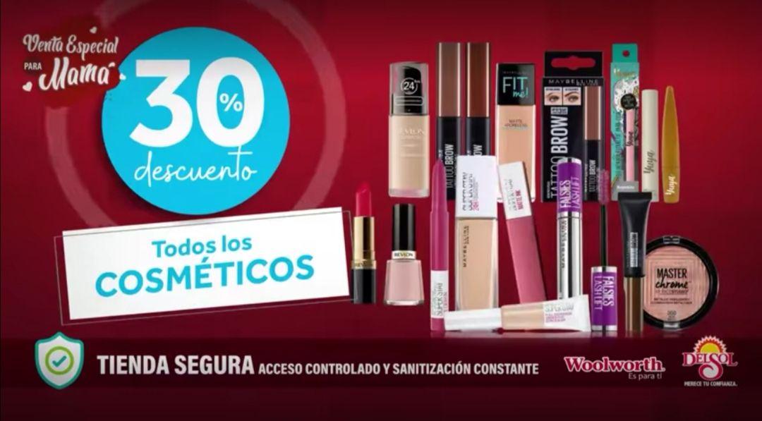 Del Sol y Woolworth: 30% de descuento en todos los cosméticos