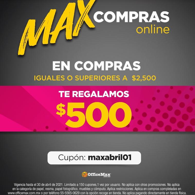 OfficeMax: Cupòn de $500 en Compras de $2500