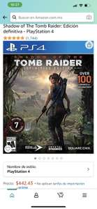 Amazon: Shadow of the Tomb Raider Definitive Edition PS4