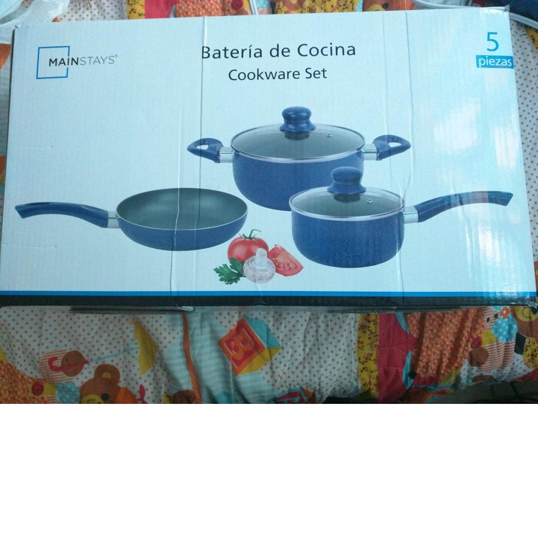 Bodega Aurrerá Iztapalapa: Batería de cocina 5 piezas Mainstays a $82.01