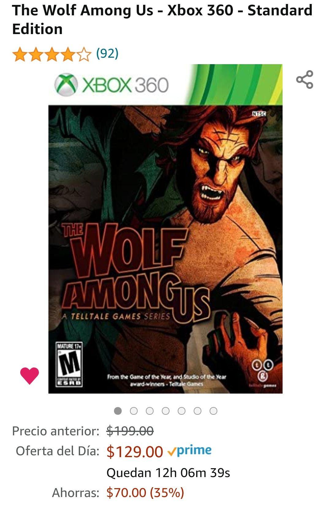 Amazon | The Wolf Among Us - Xbox 360 físico.