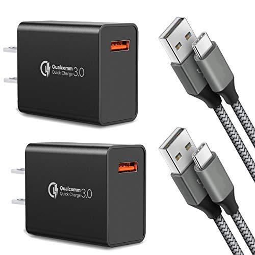Amazon: Quick Charge 3.0, cable USB tipo C con cargador de pared rápido adaptativo.