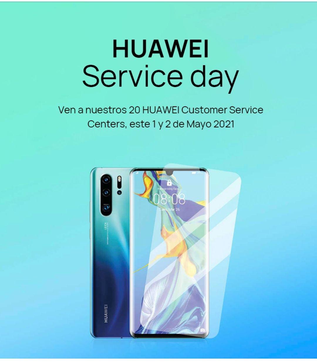 Huawei Service Day 1 y 2 de mayo