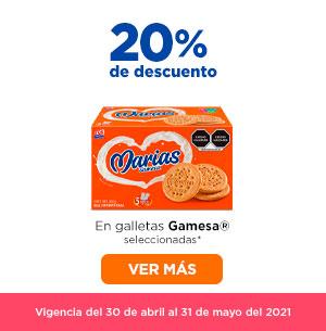 Chedraui: 20% de descuento en galletas Gamesa seleccionadas (solo tienda en línea)