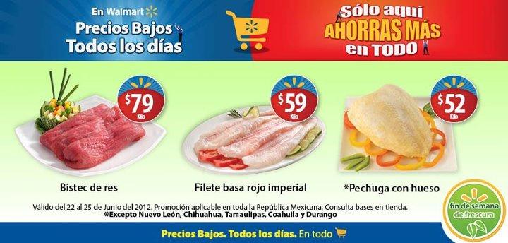 Fin de semana de frescura Walmart junio 22: filete basa rojo imperial $59/Kg y más